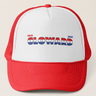 Vote Cloward 2010 Elections Red White and Blue Trucker Hat