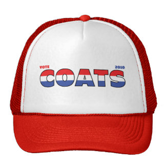 Vote Coats 2010 Elections Red White and Blue Trucker Hat