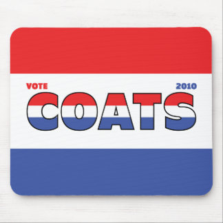 Vote Coats 2010 Elections Red White and Blue Mouse Pad
