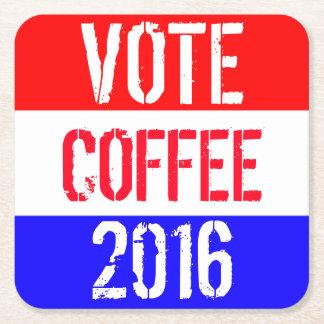 Vote Coffee 2016 Square Paper Coaster