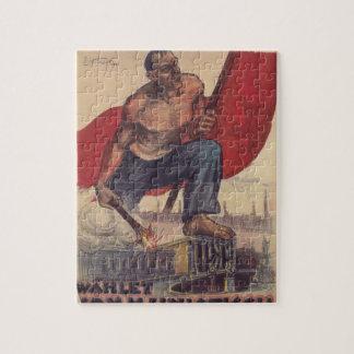 Vote Communist Propaganda Poster Jigsaw Puzzle