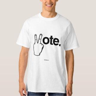 VOTE CON SU humor de Politiclothes de los DEDOS - Polera