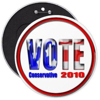 Vote Conservative 2010 Pins