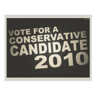 Vote Conservative 2010 Post Card