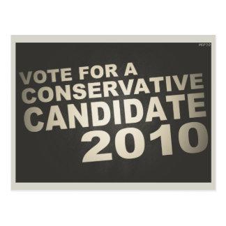 Vote Conservative 2010 Postcard