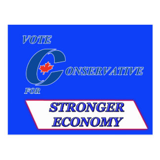 Vote Conservative for Stronger Economy Postcard