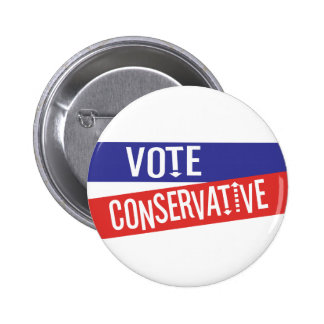 VOTE Conservative Red and Blue Pinback Button