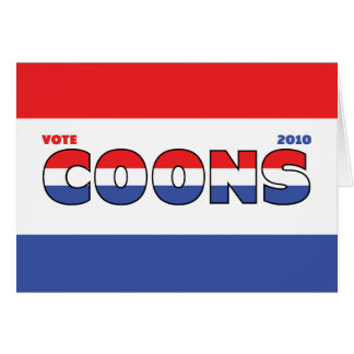 Vote Coons 2010 Elections Red White and Blue Greeting Card