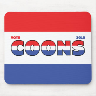 Vote Coons 2010 Elections Red White and Blue Mouse Pad