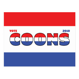 Vote Coons 2010 Elections Red White and Blue Postcard