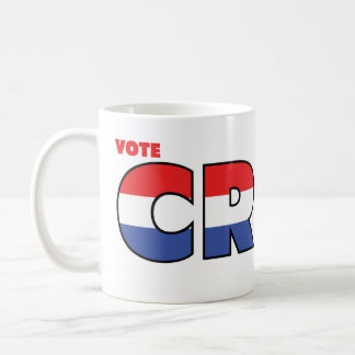 Vote Crist 2010 Elections Red White and Blue Coffee Mug