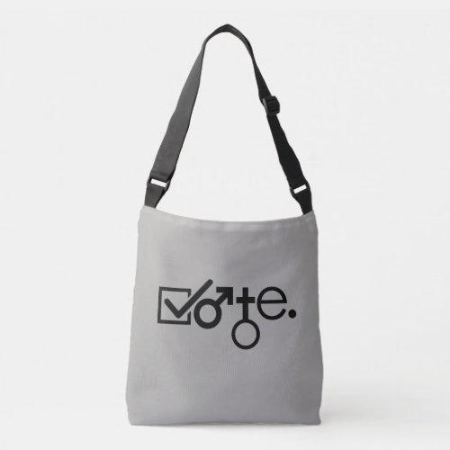 vote. crossbody bag
