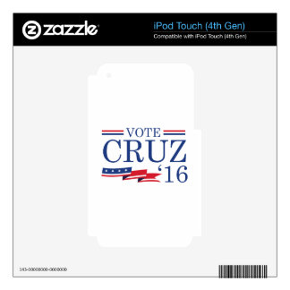 Vote Cruz 2016 Decal For iPod Touch 4G