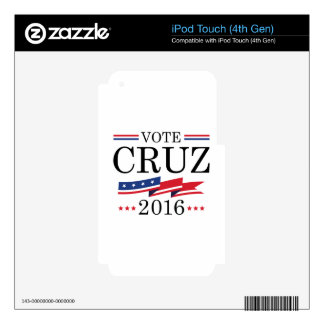 Vote Cruz 2016 Decals For iPod Touch 4G
