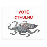 vote cthulhu postcards