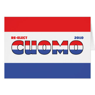Vote Cuomo 2010 Elections Red White and Blue Greeting Card