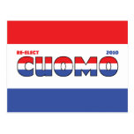 Vote Cuomo 2010 Elections Red White and Blue Postcard