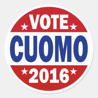 Vote Cuomo 2016 Classic Round Sticker