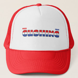 Vote Cushing 2010 Elections Red White and Blue Trucker Hat