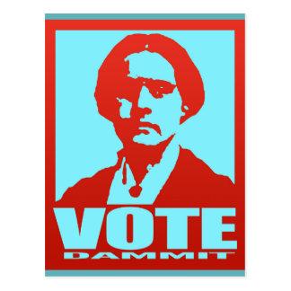 Vote Dammit Pop-Art Susan B. Anthony Custom Postcard