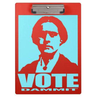 Vote Dammit Red & Aqua Susan B. Anthony Clipboard