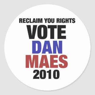 Vote Dan Maes Round Stickers