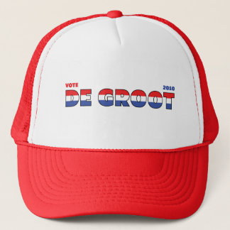 Vote De Groot 2010 Elections Red White and Blue Trucker Hat
