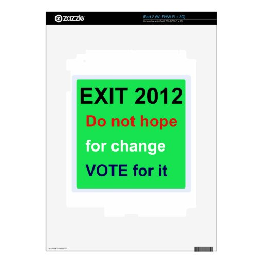 vote decal for iPad 2
