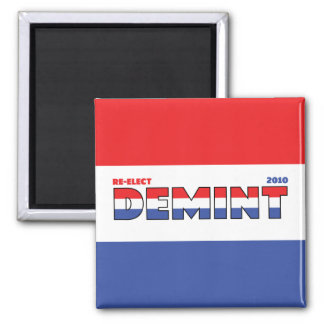 Vote DeMint 2010 Elections Red White and Blue Magnet