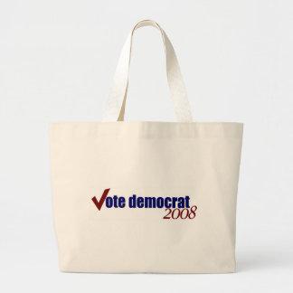 Vote Democrat 2008 Large Tote Bag