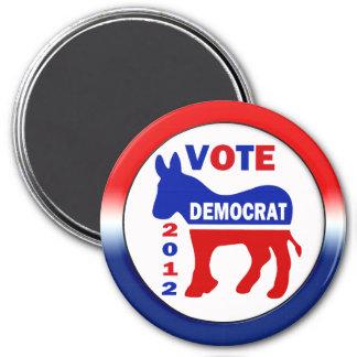 Vote Democrat 2012 3 Inch Round Magnet