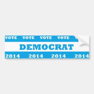 Vote Democrat 2014 - Car Bumper Sticker