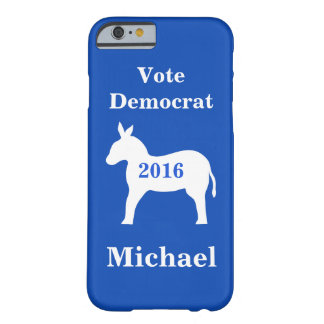 Vote Democrat 2016 Name Personalized Blue Barely There iPhone 6 Case