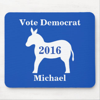 Vote Democrat 2016 Name Personalized Blue Mouse Pad