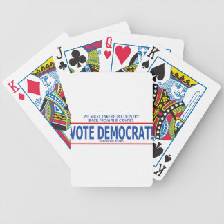 VOTE DEMOCRAT! BICYCLE PLAYING CARDS