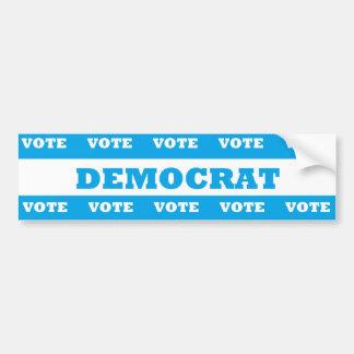 Vote Democrat - Car Bumper Sticker