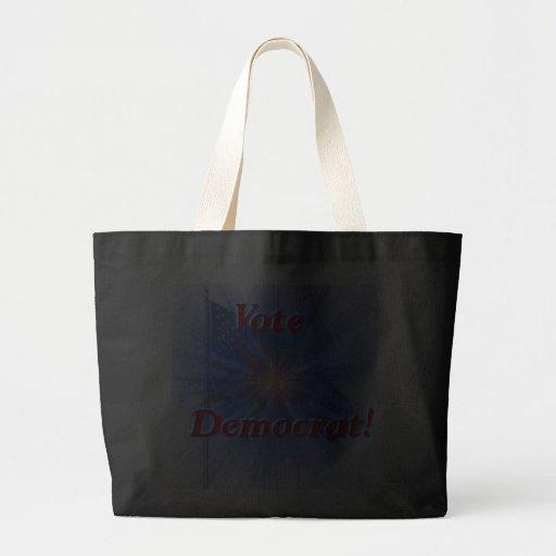 Vote Democrat Canvas Bags