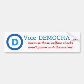 Vote Democrat! Car Bumper Sticker