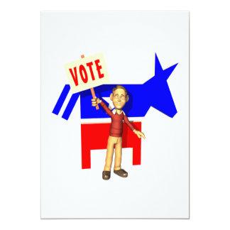 Vote Democrat Card