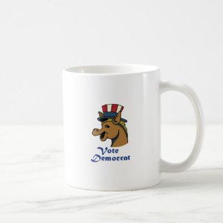 VOTE DEMOCRAT CLASSIC WHITE COFFEE MUG