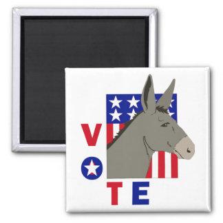 VOTE DEMOCRAT DONKEY 2 INCH SQUARE MAGNET