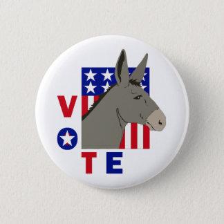 VOTE DEMOCRAT DONKEY BUTTON