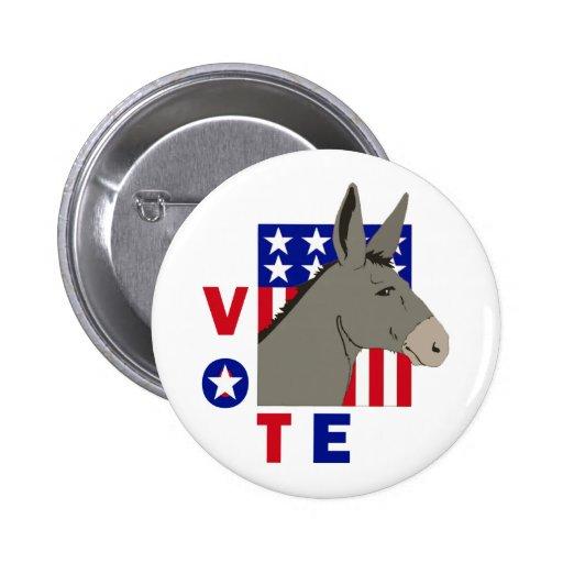 VOTE DEMOCRAT DONKEY PIN