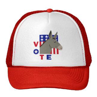 VOTE DEMOCRAT DONKEY TRUCKER HAT