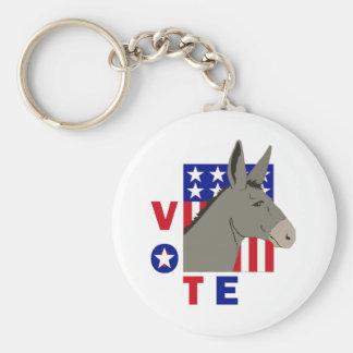 VOTE DEMOCRAT DONKEY KEY CHAIN