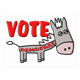 VOTE DEMOCRAT (Donkey) Postcard