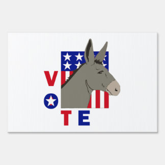 VOTE DEMOCRAT DONKEY Yard Sign