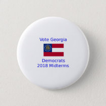 Vote Democrat Georgia - 2018 Midterm Elections Button
