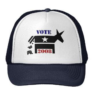 VOTE DEMOCRAT IN 2008 TRUCKERS HAT