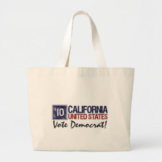 Vote Democrat in 2010 – Vintage California Large Tote Bag